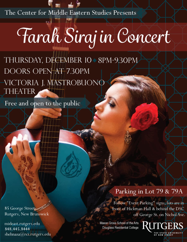Farah Siraj in Concert flier copy