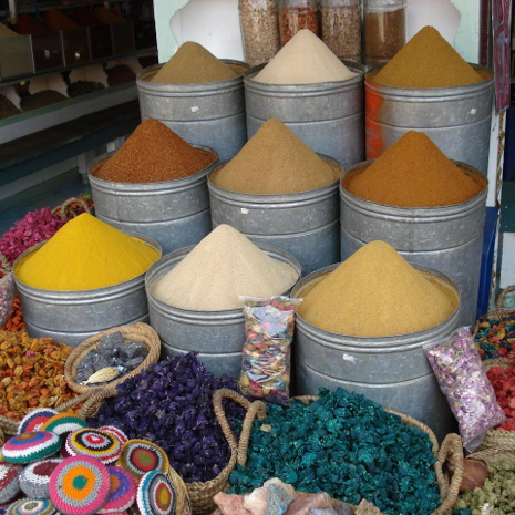 Spices in Marrakech, Morocco by Miquel C. from Sant Boi, Catalunya